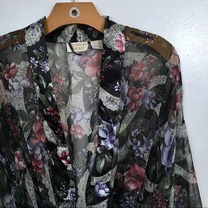 SALE - Vintage Victoria's Secret Sheer Floral Robe